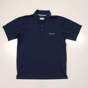 Columbia Blue Polo Men's Medium Omni Shade